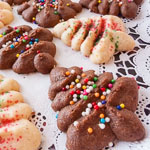 Andrea's Recipes - Cream Cheese Spritz Cookies
