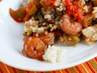 Andrea Meyers - Creamy Rice with Mushrooms, Artichokes, and Shrimp