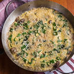 Mushroom Chard Frittata (The Kids Cook Monday) - Andrea Meyers
