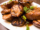 Andrea's Recipes - Grilled Chinese Eggplant with Garlic and Ginger Sauce