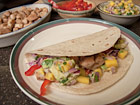 Andrea Meyers - Grilled Fish Tacos with Mango Avocado Salsa