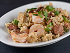 Andrea Meyers - Jambalays with Shrimp, Chicken, Andouille, and Ham