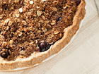 Andrea Meyers - Peach Blueberry Pie with Oatmeal Crumb Topping and Crust