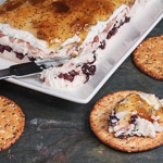 Andrea Meyers - Creamy Cheese Torta with Prosciutto, Kalamata Olives, and Fig Jam