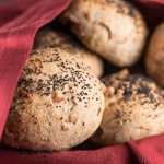 Rye Onion Walnut Rolls - Andrea Meyers