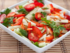Andrea Meyers - Cucumber Salad with Tomatoes, Bell Pepper, and Spicy Thai Lime Vinaigrette