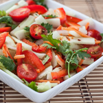 Andrea Meyers - Thai Cucumber Salad with Tomato, Bell Pepper, and Spicy Thai Lime Vinaigrette