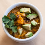 Andrea Meyers - Mexican-Spice Butternut Squash Soup with Beans and Corn