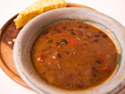 Andrea's Recipes - Slow Cooker Black Bean Soup with Five Peppers and Ham