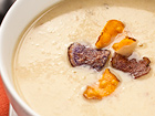Andrea Meyers - Potato Leek Soup with White Truffle Honey