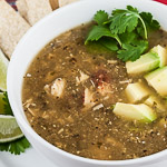 Andrea Meyers - Roasted Tomatillo Soup with Chicken (Sopa Verde con Pollo)