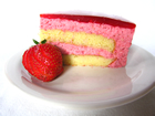 Andrea Meyers - The Daring Bakers Make Strawberry Mirror Cake