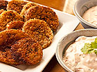 Andrea Meyers - Fried Green Tomatoes with Chipotle Sour Cream