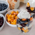 Andrea Meyers - Summer Fruit Trifles with Peaches, Cherries, and Blueberries