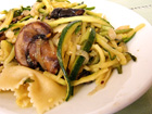 Andrea Meyers - Zucchini and Mushroom Pasta with Lemon Basil