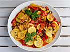 Andrea Meyers - Zucchini Sauteed with Tomatoes, Mushrooms, Peppers, and Basil