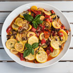 Andrea Meyers - Sauteed Zucchini with Tomatoes, Mushrooms, Peppers, and Basil