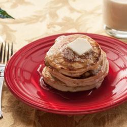 Eggnog Pancakes Recipe - Andrea Meyers