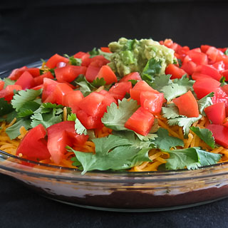 Layered Bean Dip and a Tribute to Fundraiser Cookbooks