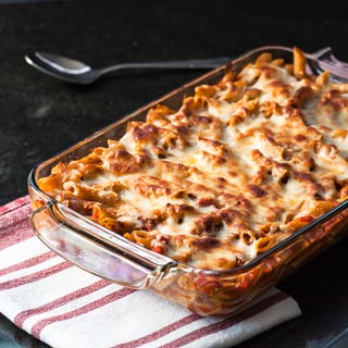 Baked Penne Recipe with Tomatoes and Mozzarella - Andrea Meyers
