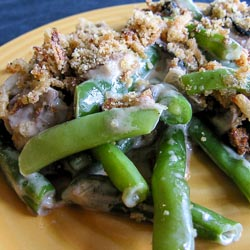 Green Bean Casserole with Three Mushrooms - Andrea Meyers