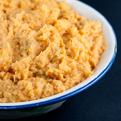 Mashed Sweet Potatoes with Green Chiles