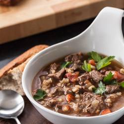Slow Cooker Beef Barley Soup Recipe - Andrea Meyers