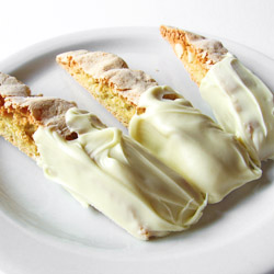 White Chocolate Macadamia Nut Biscotti with Orange