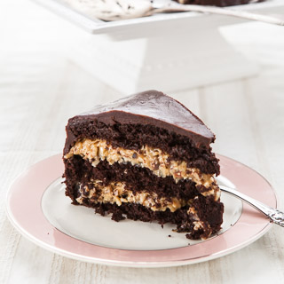 Inside-Out German Chocolate Cake Recipe - Andrea Meyers