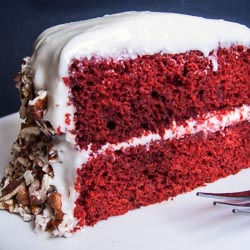 Red Velvet Cake Recipe with Cream Cheese Frosting - Andrea Meyers
