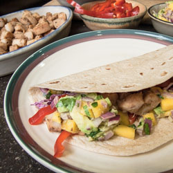 Grilled Fish Tacos with Mango