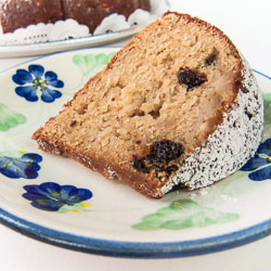 Brown Sugar Cake Recipe with Prunes and Apples - Andrea Meyers