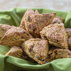 Pumpkin Raisin Scones Recipe - Andrea Meyers