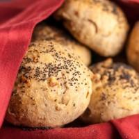 Rye Onion Walnut Rolls - Andrea Meyers