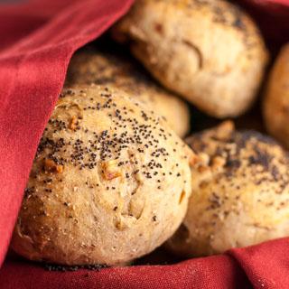 Rye Onion Walnut Rolls