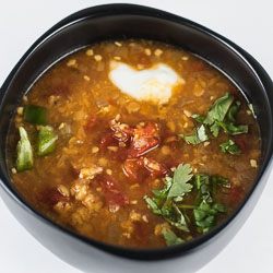 Spicy Red Lentil and Tomato Soup - Andrea Meyers