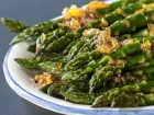 Roasted Asparagus with Orange Ginger Glaze - Andrea Meyers