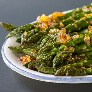 Roasted Asparagus with Orange Ginger Glaze