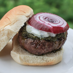 Greek Burgers and Tzatziki