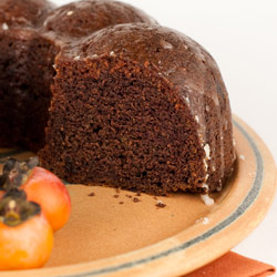 Spiced Persimmon Cake with Dates and Lemon Glaze - Andrea Meyers