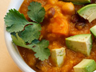 Andrea Meyers - Mexican Spiced Butternut Squash Soup with Beans and Corn