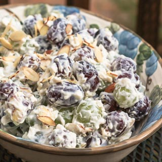 Creamy Grape Salad with Almonds Recipe - Andrea Meyers