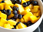 Andrea Meyers - Mango Blueberry Salad with Ginger Vinaigrette
