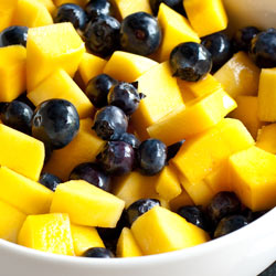 Mango Blueberry Salad with Ginger Vinaigrette - Andrea Meyers