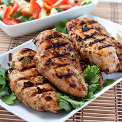 Thai Grilled Chicken with Coconut Milk Marinade