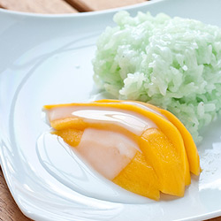 Thai Green Sticky Rice with Mango - Andrea Meyers