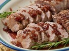 Roast Pork Tenderloins with Maple Pomegranate Glaze - Andrea Meyers