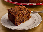 Andrea Meyers - Spiced Applesauce Cake with Black Walnuts, Rum, and Dates