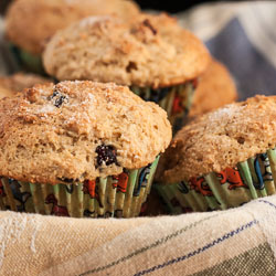 Whole Wheat Cranberry Orange Ricotta Muffins Recipe - Andrea Meyers