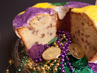Andrea Meyers - Mardi Gras Cream Cheese Bourbon Pecan Pound Cake